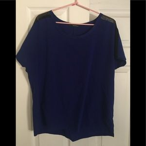Navy blue modern top